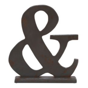 Ampersand Table Decor