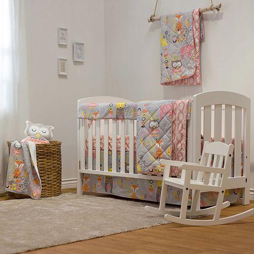 Lolli Living Enchanted Garden 4-Piece Crib Bedding Set