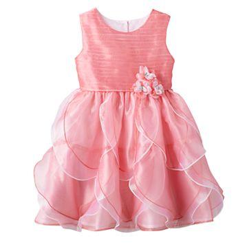 Toddler Girl Nannette Pink Organza Petal Dress