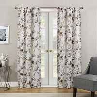 eclipse Paige Floral Thermaweave Room Darkening Curtain