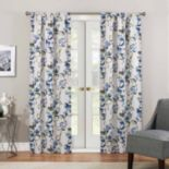 eclipse Thermaweave Room Darkening 1-Panel Paige Floral Window Curtain