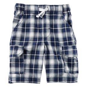 Baby Boy Carter's Plaid Midtier Cargo Shorts