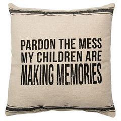 ''Pardon the Mess'' Throw Pillow