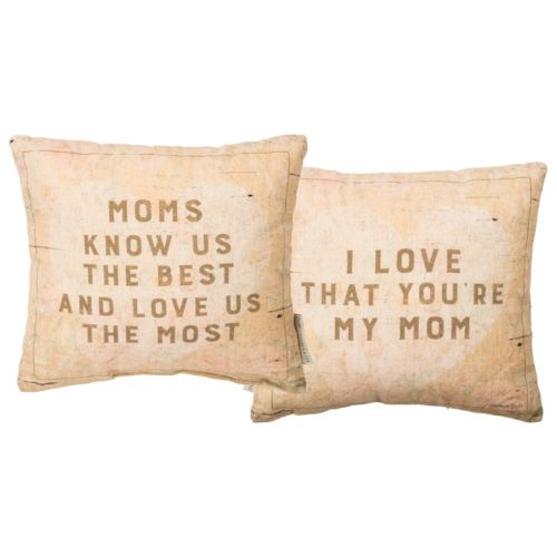 ''My Mom'' Reversible Small Throw Pillow