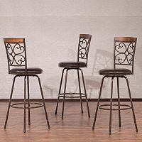 Hillsdale Furniture Woodland Swivel Stool 3 pc Set