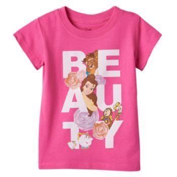 "Disney's Beauty & The Beast Belle, Beast & Lumiere Toddler Girl ""Beauty"" Tee"
