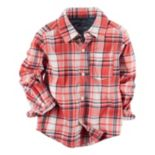 Boys 4-8 Carter's Twill Plaid Button-Down Shirt