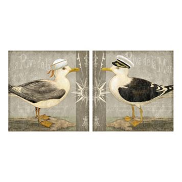 Parisian Coastal II & III Canvas Wall Art 2-piece Set