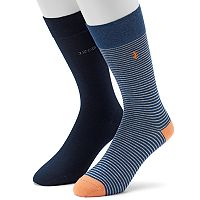 Men's IZOD Striped & Solid Crew Socks