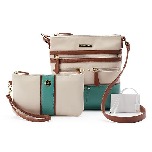 Stone & Co. Plugged In Phone Charging Lydia Crossbody Bag with Wristlet