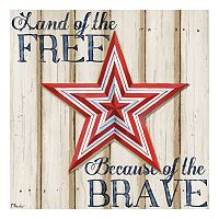 Patriotic Spirit Barn Star I Canvas Wall Art