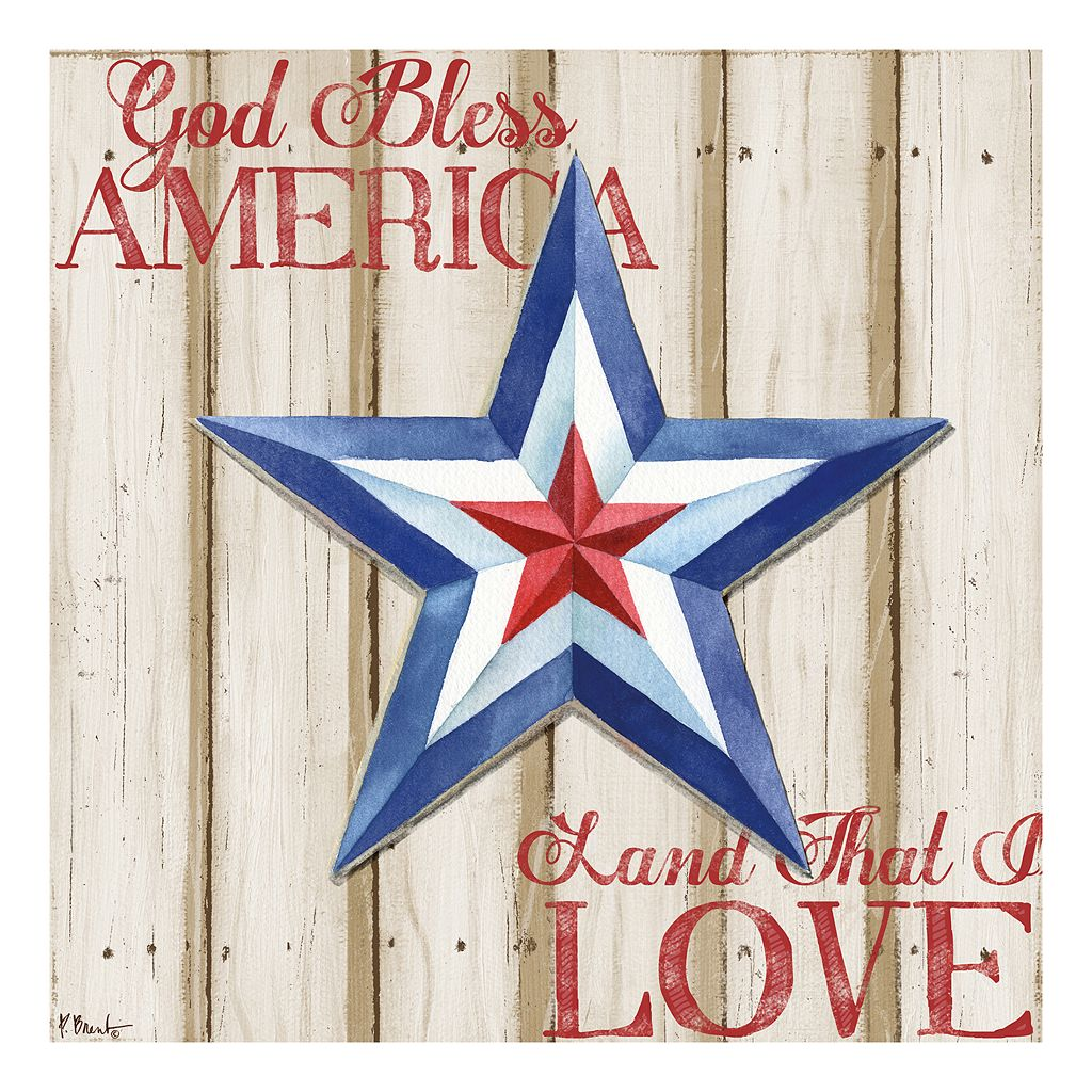 Patriotic Spirit Barn Star III Canvas Wall Art