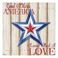 Patriotic Spirit Barn Star III Canvas Wall Art