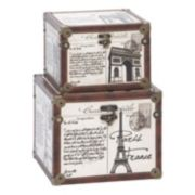 "Decorative ""Paris"" Trunk Floor Decor 2-piece Set"