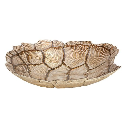 Glass Faux Turtle Shell Table Decor