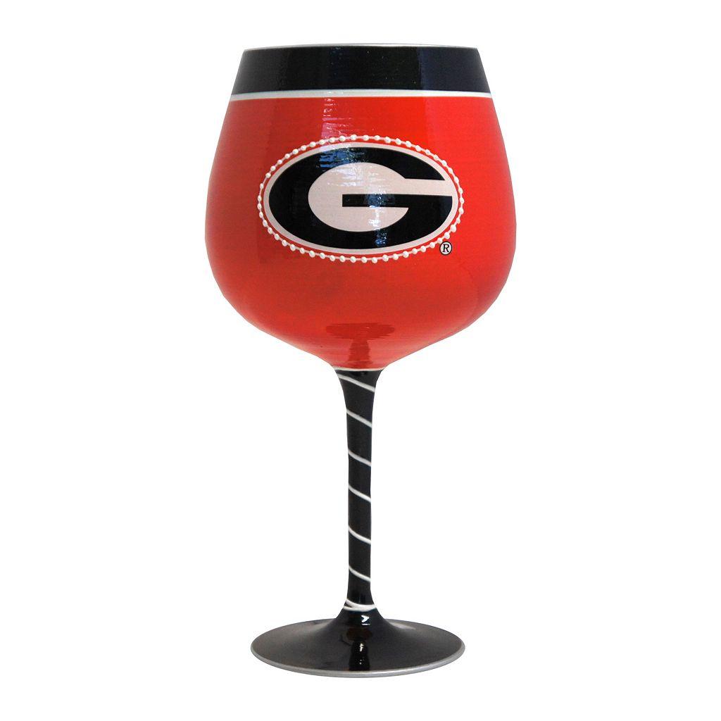 Boelter Georgia Bulldogs Artisan Wine Glass