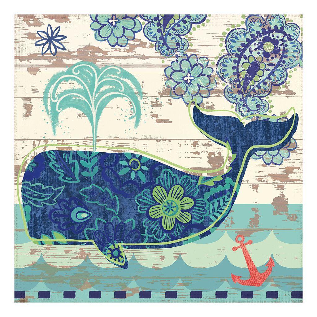 Oceania Whale Canvas Wall Art