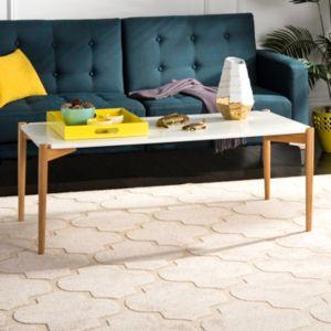 Safavieh Two-Tone Rectangular Coffee Table