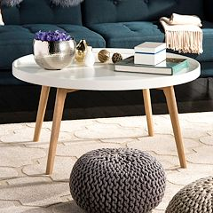 Safavieh Sage Tray Top Round Coffee Table
