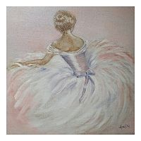 Pink Ballerina Canvas Wall Art