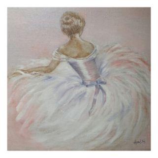 Pink Ballerina Canvas Wall Art