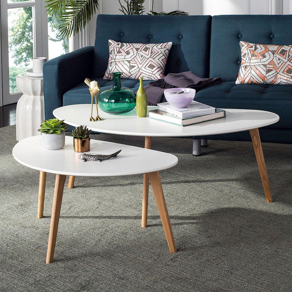 Safavieh Modern Two-Tone Coffee Table 2-piece Set