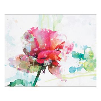 Pink Rose Canvas Wall Art