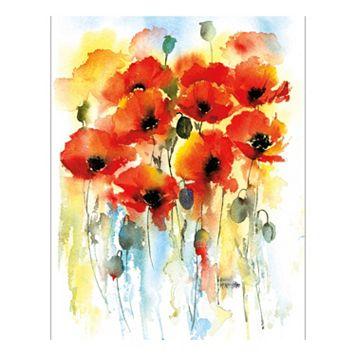 Poppy Flourish Canvas Wall Art