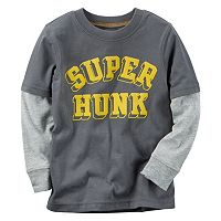 Toddler Boy Carter's Mock-Layered Long Sleeve Graphic Tee