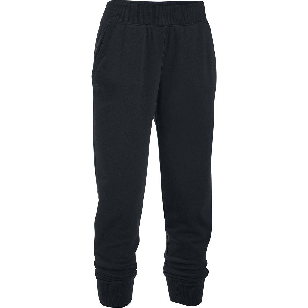 Women's Under Armour French Terry Ankle Crop Pants