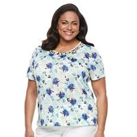 Plus Size Napa Valley Floral Knotted Top