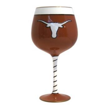 Boelter Texas Longhorns Artisan Wine Glass