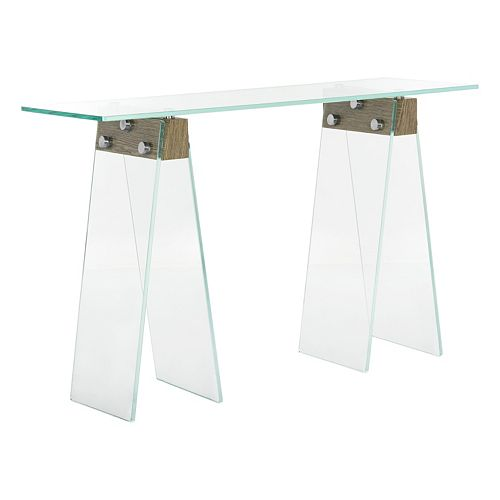 Safavieh Modern Industrial Glass Console Table