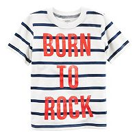 Boys 4-8 Carter's Text Striped Graphic Tee