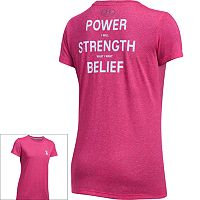 Women's Under Armour Power In Pink Tech Short Sleeve Graphic Tee