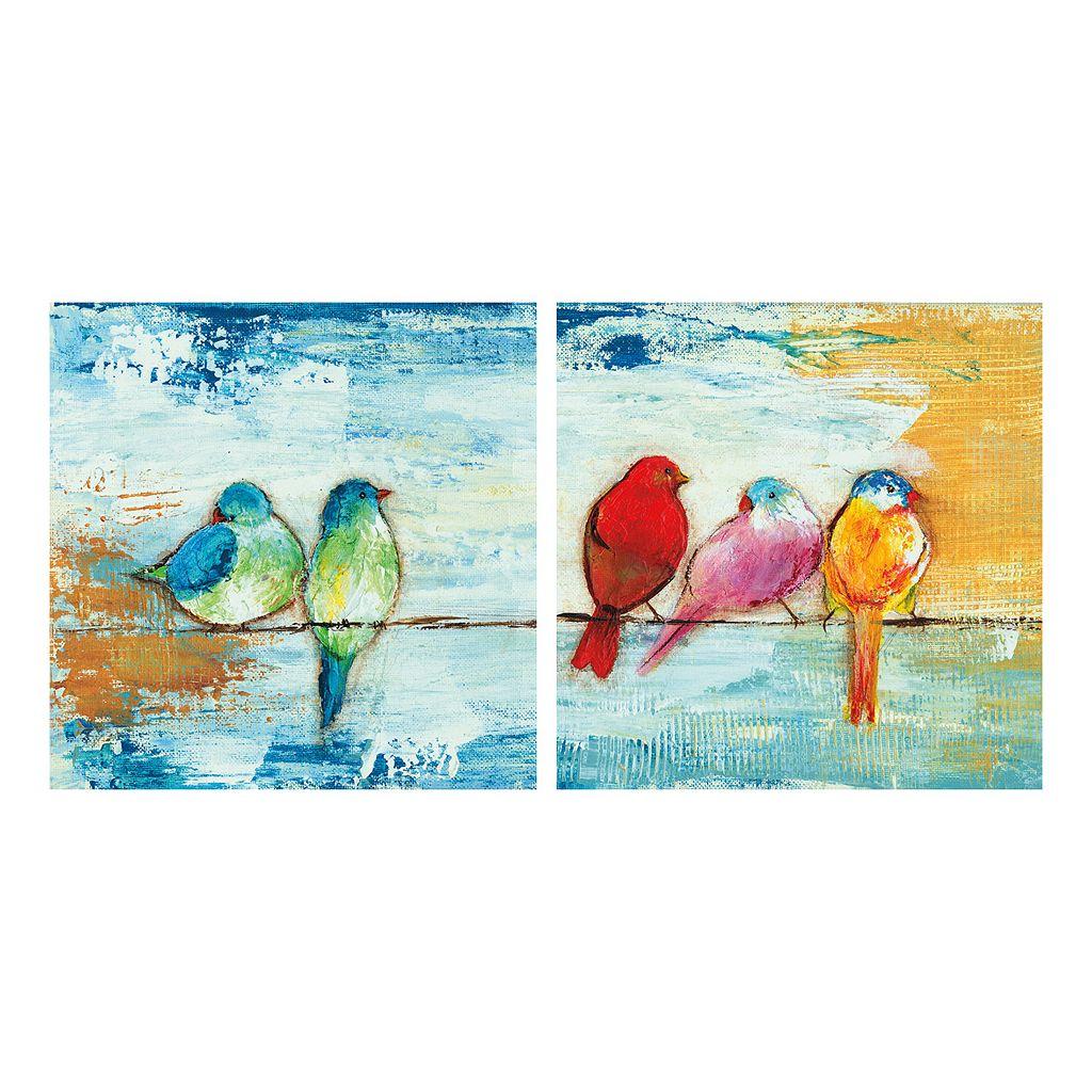 Song Birds II & III Canvas Wall Art 2-piece Set