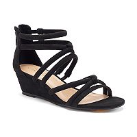 LC Lauren Conrad Women's Tube Strap Wedge Sandals