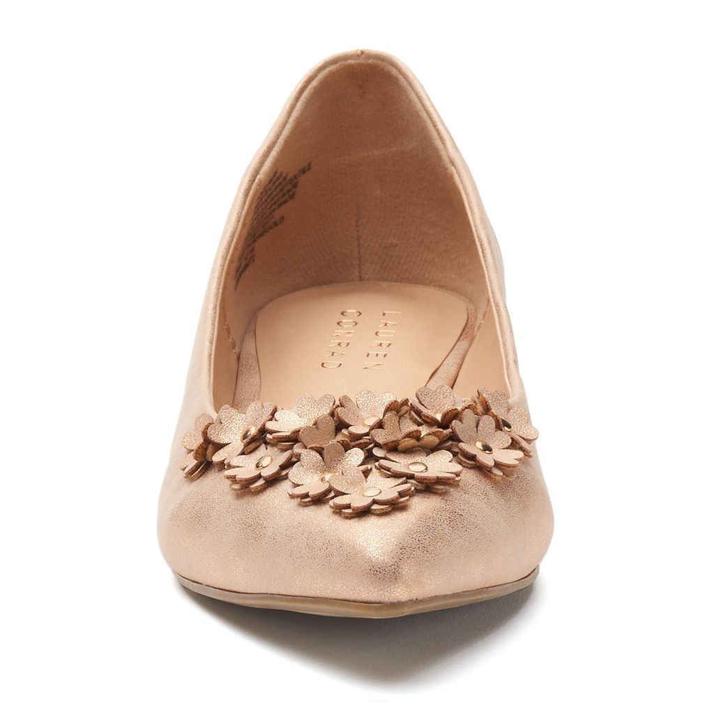 LC Lauren Conrad Women's Floral Pointed-Toe Flats