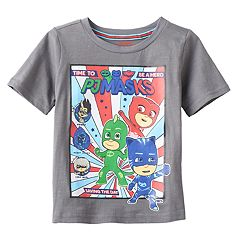 Toddler Boy PJ Masks Gray 'Time to be a Hero' Owlette, Gekko & Catboy Graphic Tee
