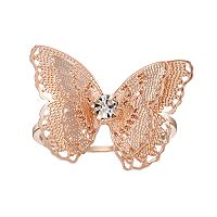 LC Lauren Conrad Filigree Butterfly Ring
