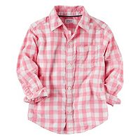 Toddler Boy Carter's Checkered Plaid Woven Button-Down Shirt
