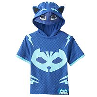 Toddler Boy PJ Masks Catboy 3D Ears & Eye Mask Hooded Tee