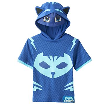 Toddler Boy PJ Masks Catboy 3D Ears & Eye Mask Hooded Tee