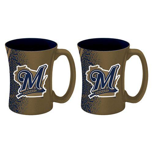 Boelter Milwaukee Brewers Mocha Coffee Mug Set