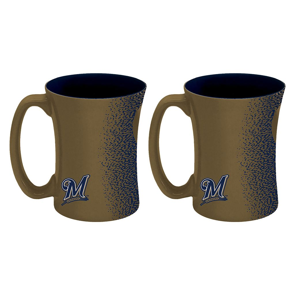 Boelter Milwaukee Brewers Mocha Coffee Mug Set