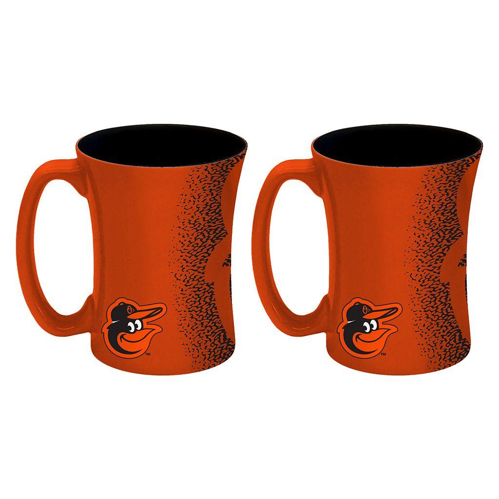 Boelter Baltimore Orioles Mocha Coffee Mug Set