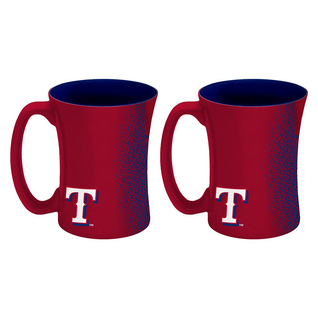 Boelter Texas Rangers Mocha Coffee Mug Set