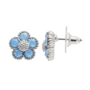 LC Lauren Conrad Blue Flower Stud Earrings
