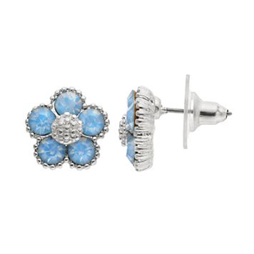 LC Lauren Conrad Blue Flower Stud Earrings