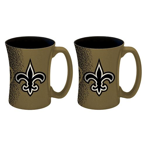 Boelter New Orleans Saints Mocha Coffee Mug Set